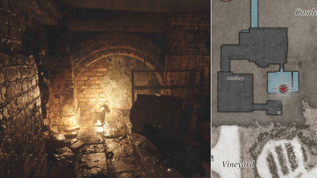 Resident Evil Village Goat of Warding Castle Dimitrescu Distillery map location