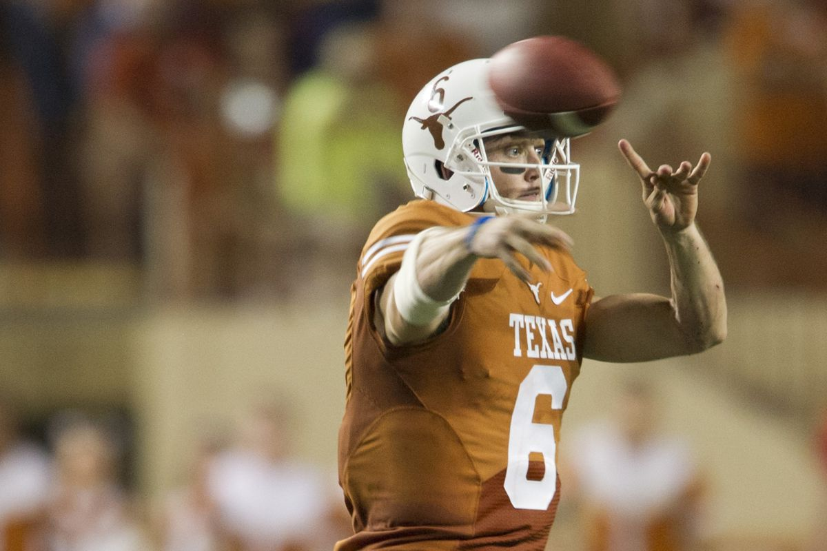 Case McCoy was so cocky against KSU he did the Hook Em during play.