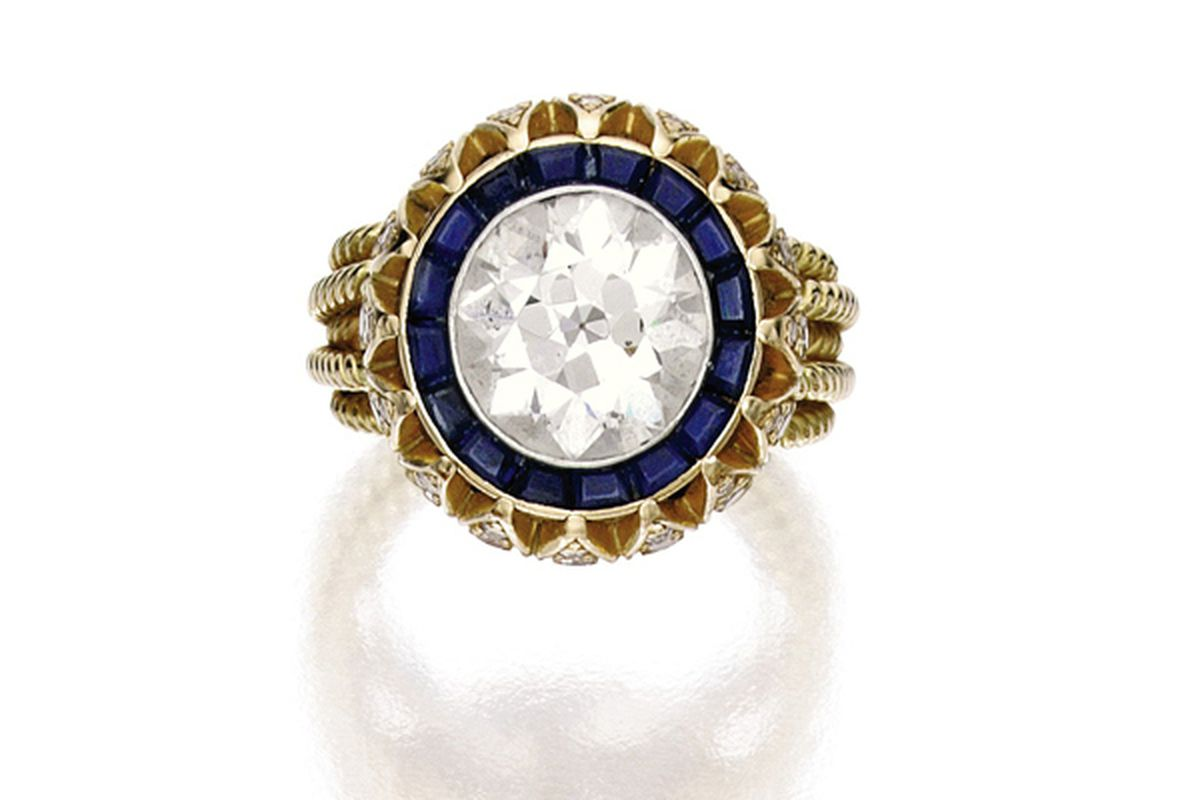 """Images courtesy Sotheby's and via <a href=""""http://www.stylecaster.com/mary-kate-olsen-vintage-cartier-engagement-ring/"""">StyleCaster</a>."""