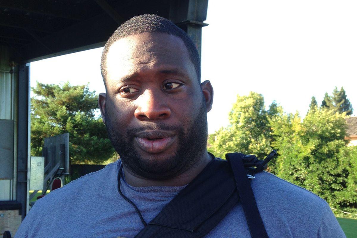 Oakland Raiders offensive lineman, Andre Gurode