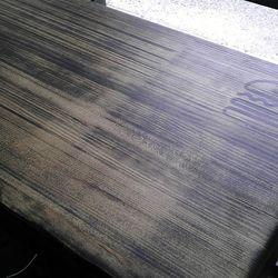 The reclaimed bowling alley wood.