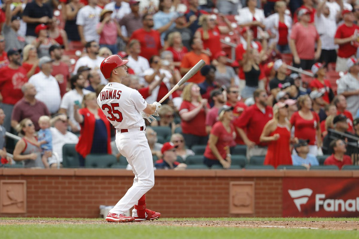 Lane Thomas Grand Slam Propels Cards To Comeback 11 9 Victory And