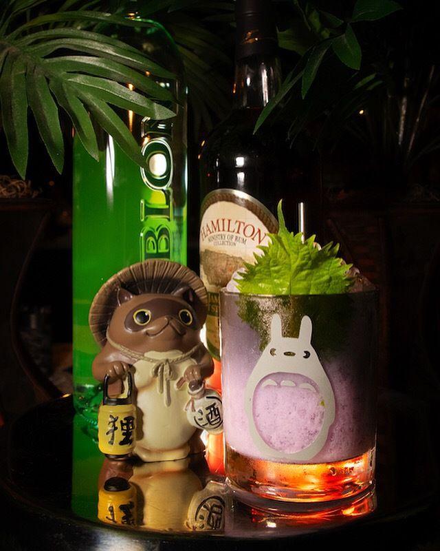 A taro cocktail from Daijoubu
