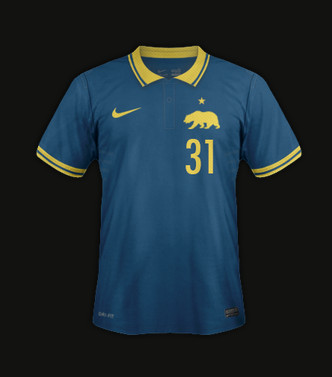 Check out these cool soccer kits for all 50 states sbnation california kit1 voltagebd Images