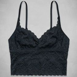 """<b>Erika Graham, <a href=""""http://racked.com"""">Racked</a> assistant editor:</b> """"I'm a 32AA so bralettes and I go way, way back. About four years ago, I picked up a strappy triangle bralette from <a href=""""http://www.abercrombie.com/shop/us/womens-bras-and-u"""