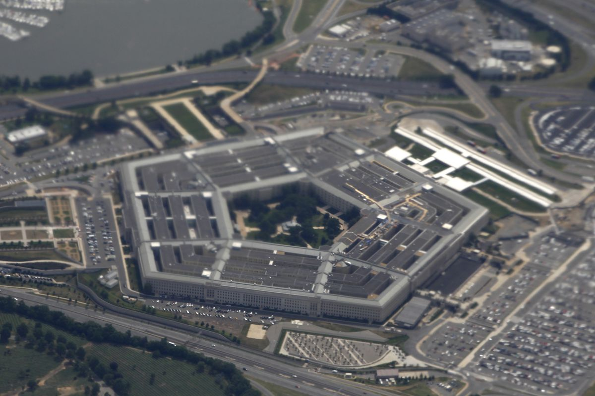 FILE - In this June 3, 2011, file photo, the Pentagon is seen from air from Air Force One. The Pentagon has ordered an independent federal auditor to stop providing the public with key information about U.S. war efforts in Afghanistan, accelerating a clam