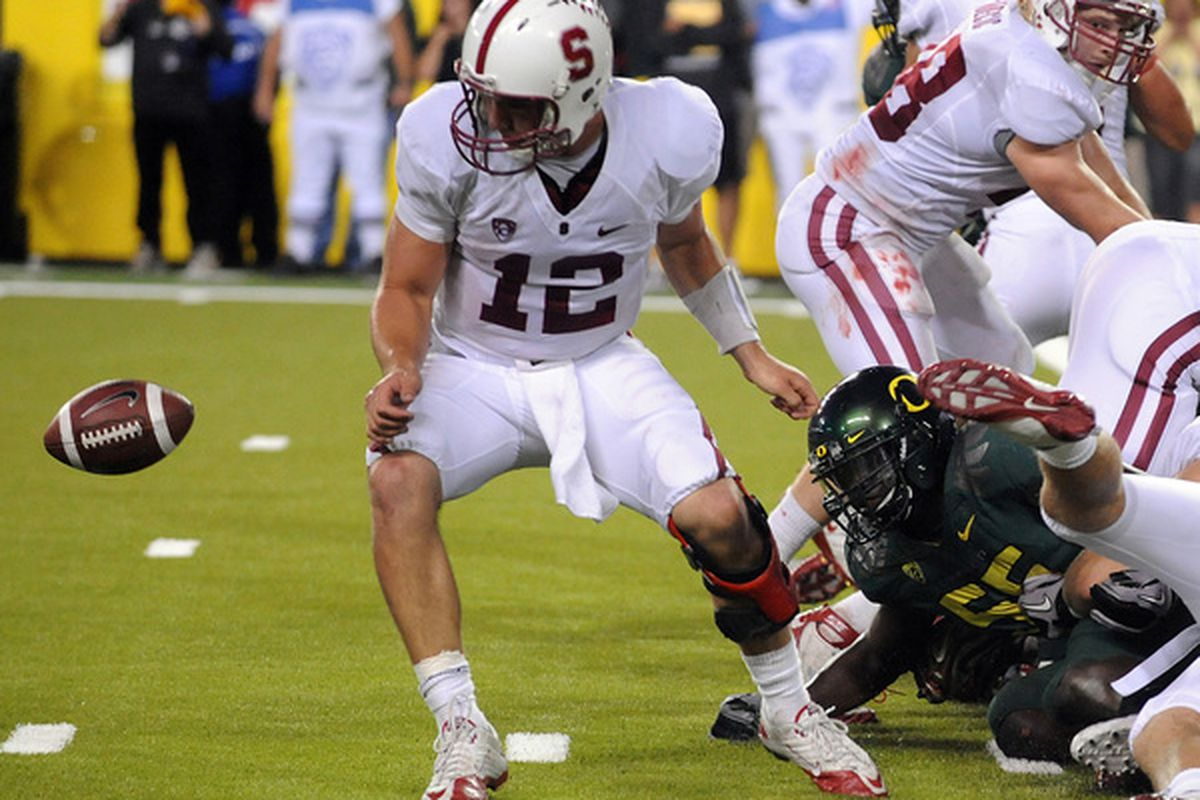 Stanford, which had been flawless in the red zone entering Saturday's game, wasted a couple of valuable opportunities against the Ducks.