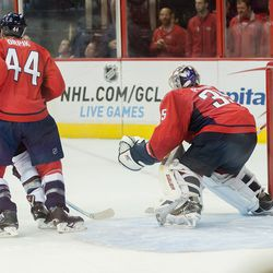 Orpik Tries to Clear Crease