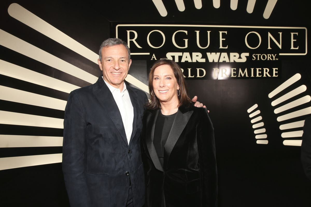 """Bob Iger and producer Kathleen Kennedy a the world premiere of """"Rogue One: A Star Wars Story"""""""