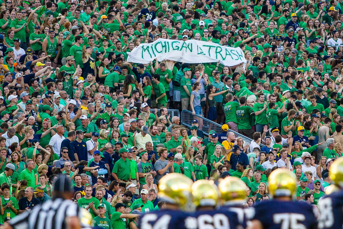 Bagpipe Monday: How do Notre Dame fans feel about Michigan football?