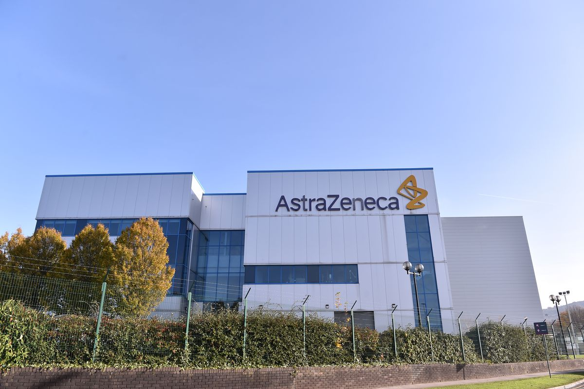 A general view outside AstraZeneca Millcourt center in England.