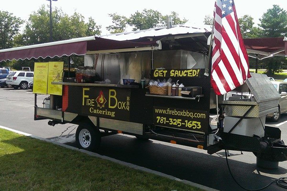 Firebox BBQ catering trailer