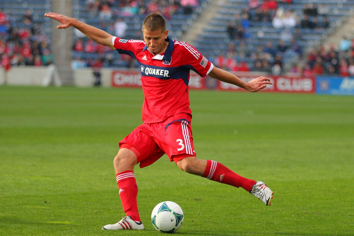 After his first start on Sunday, Chicago Fire defender Hunter Jumper credited his teammates for his success