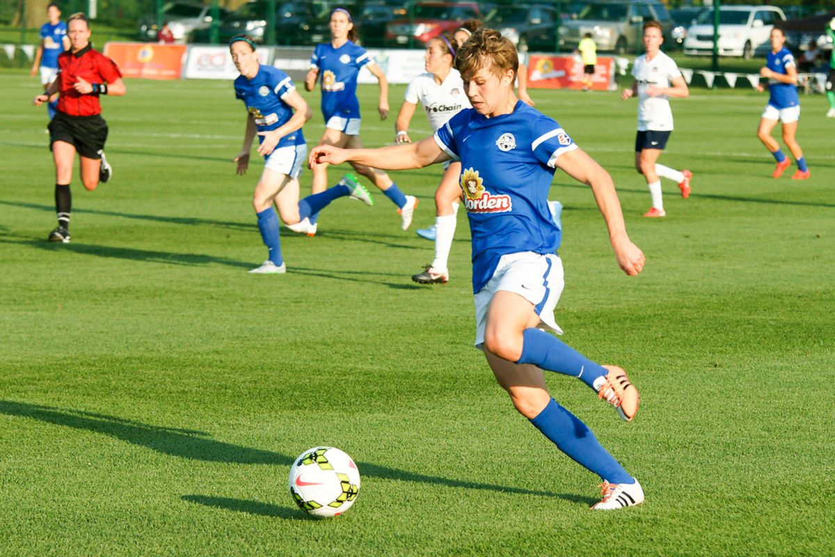 Becca Moros was only with FC Kansas City for a year but helped them to another championship