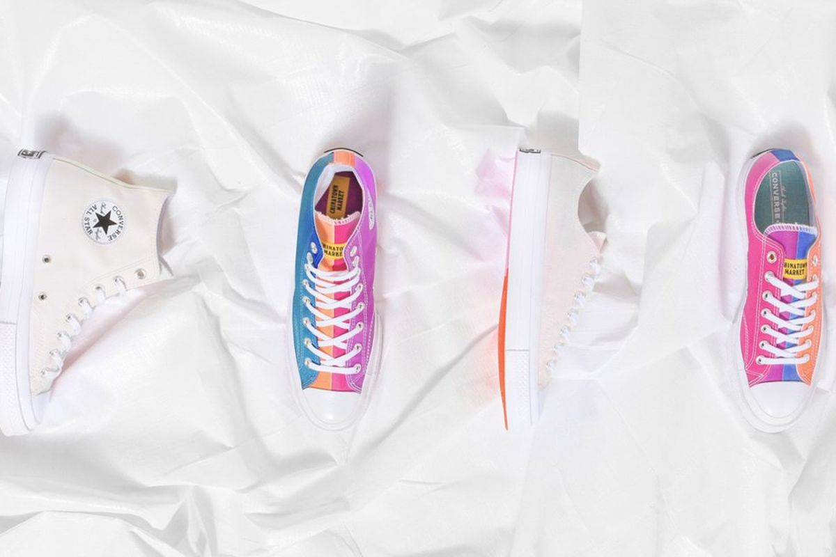 These white Converse sneakers change colors when you step