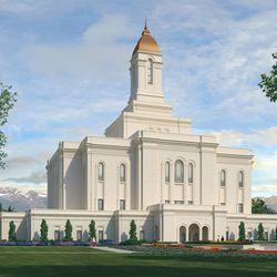 A rendering of the Tooele Valley Utah Temple.