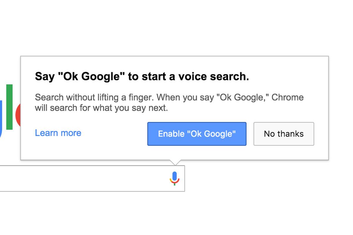 Chrome removes always-on 'OK Google' voice search on desktop - The Verge