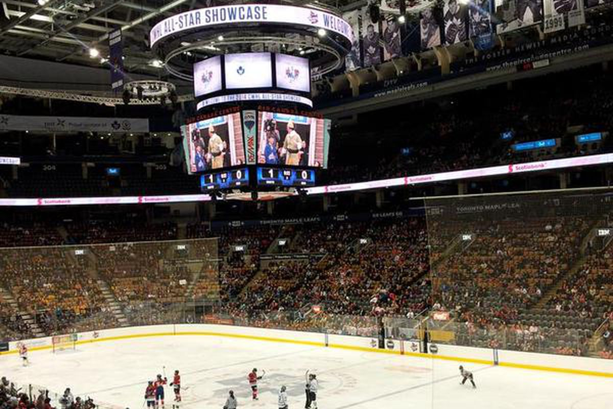 Nearly seven thousand fans were on hand to watch the first-ever CWHL All-Star Game at the Air Canada Centre in Toronto.