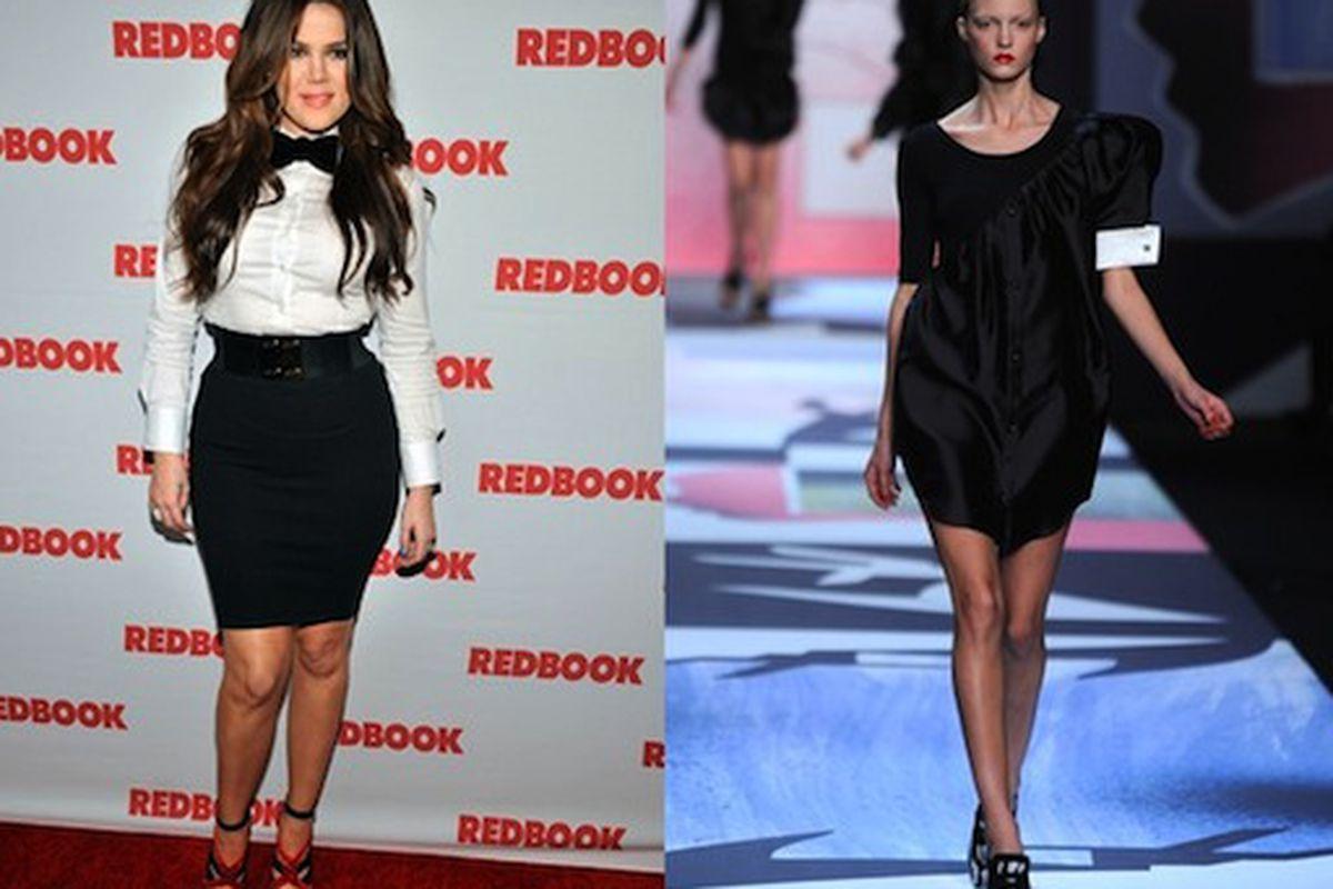"Yeah, Khloe Kardashian as a waitress is believable. Image via <a href=""http://www.wwd.com/eyescoop/fashion-rehab-costume-party-or-red-carpet-3584102?module=eye#/slideshow/article/3584102/3584254"">WWD</a>"