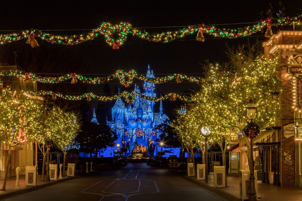 The Disneyland Resort transforms into the Merriest Place on Earth for the holiday season. Among the merriment at Disneyland Park, Sleeping Beauty's Winter Castle shines brightly with the glow of the shimmering icicles and twinkling lights, enchanting guests from day to night. (Joshua Sudock/Disneyland Resort)