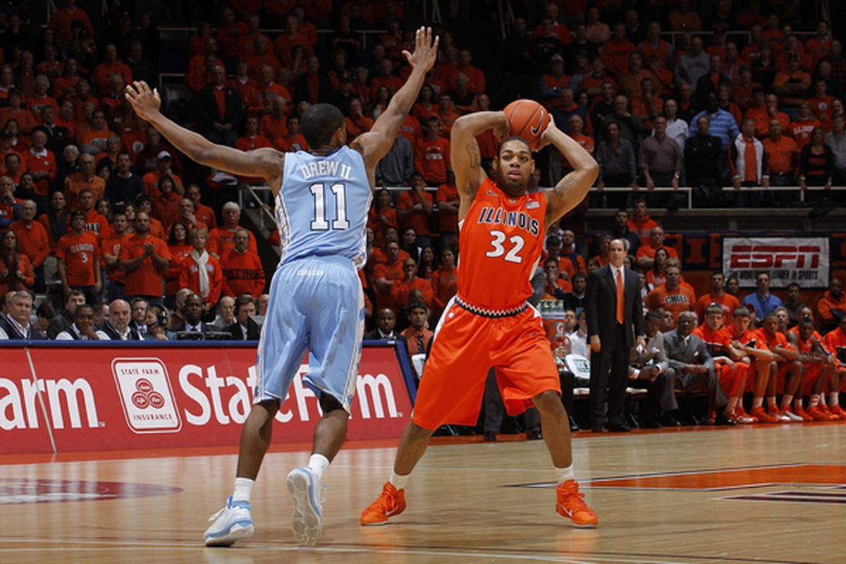 Larry Drew II #11 then of the North Carolina Tar Heels permitter defense is why he will be starting this year.  (Photo by Joe Robbins/Getty Images)
