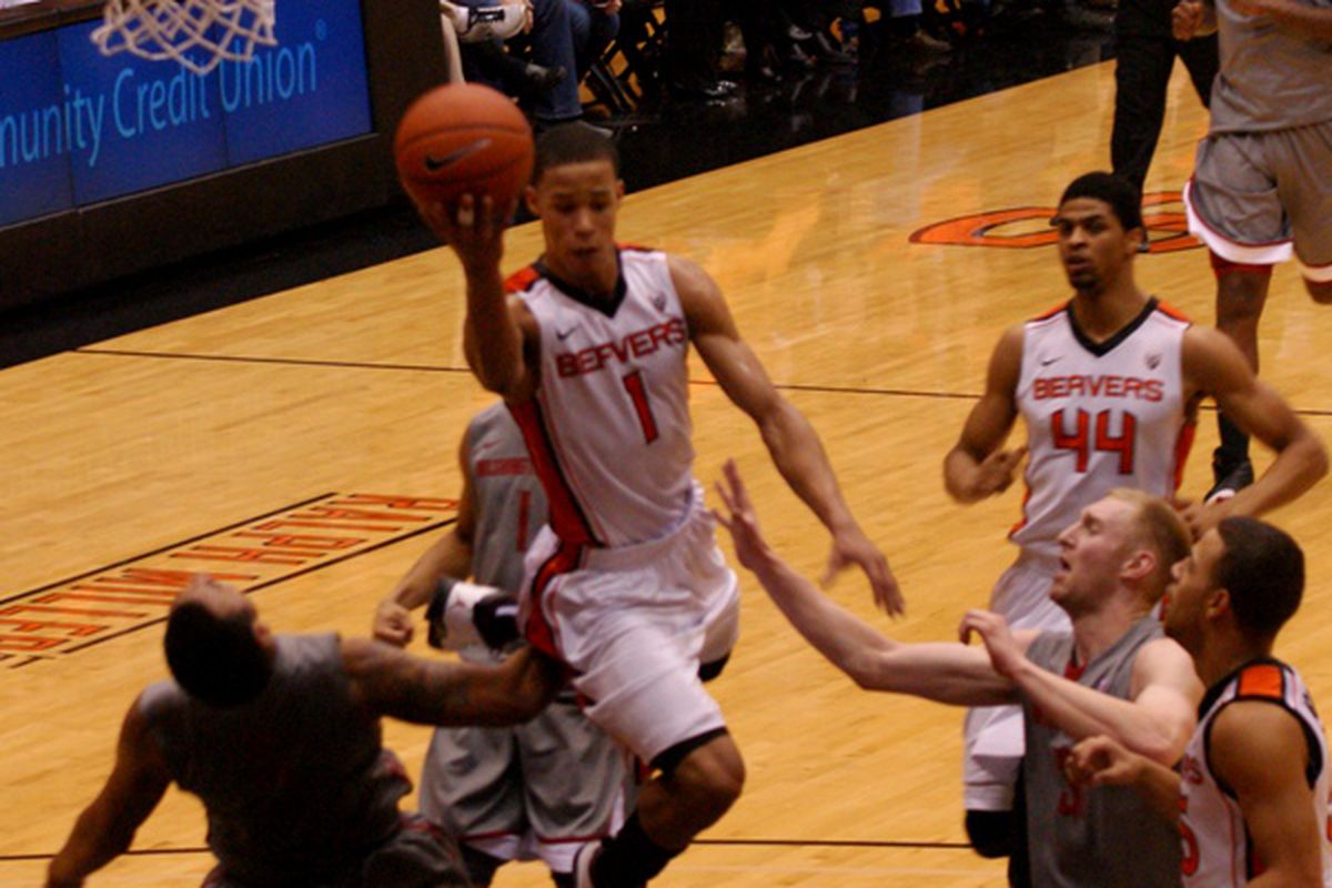 Jared Cunningham had 33 points Thursday against Washington St., and it still wasn't enough. How many highlights can Cunningham come up with against Washington for a national tv audience? <em>(Photo by Andy Wooldridge)</em>