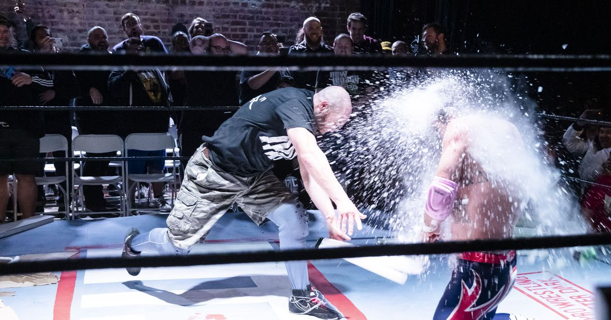 Image result for david arquette nick gage gif