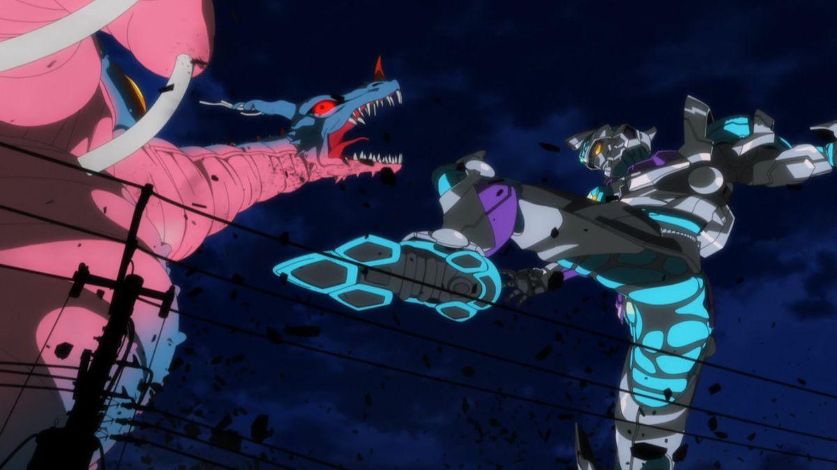 ssss.gridman kaiju fight