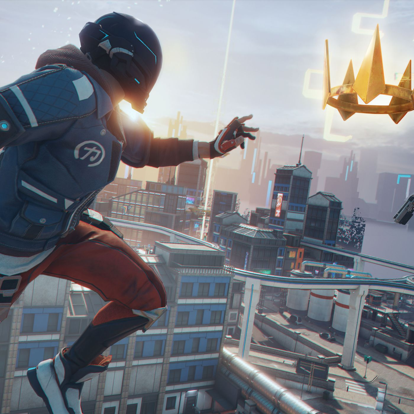 Ubisoft S Hyper Scape Is A Fast Chaotic Battle Royale From The