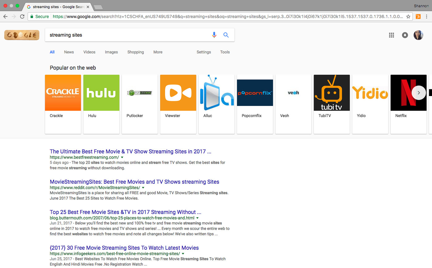 Google search now casually highlights 'best torrent sites