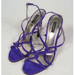 "<a href=""http://www.ebay.com/itm/ws/eBayISAPI.dll?ViewItem&item=221075365832#ht_2471wt_1179"">Dolce & Gabbana Purple Suede Strappy Heels</a>. Current Bid: $31"
