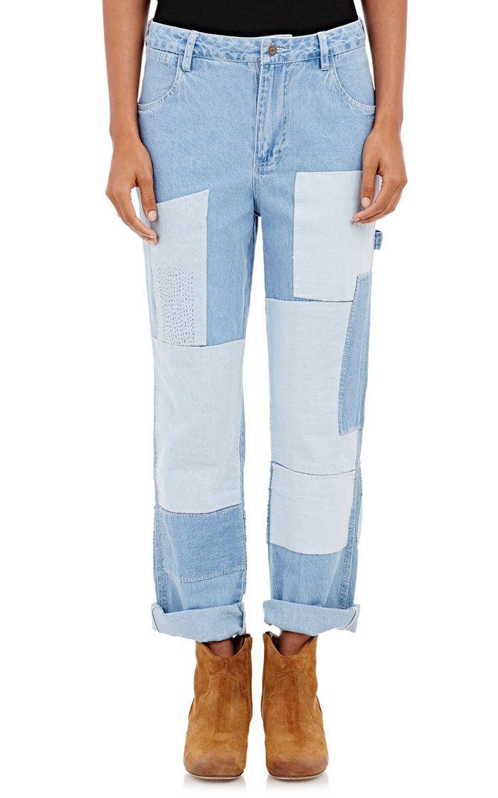 Ulla Johnson patchwork jeans