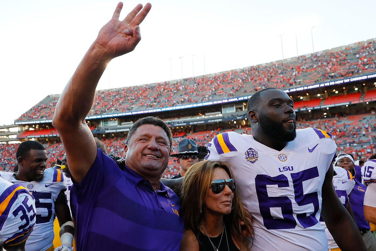 Ed Orgeron just delivered a beautiful victory speech after beating Auburn 985e44bb6846