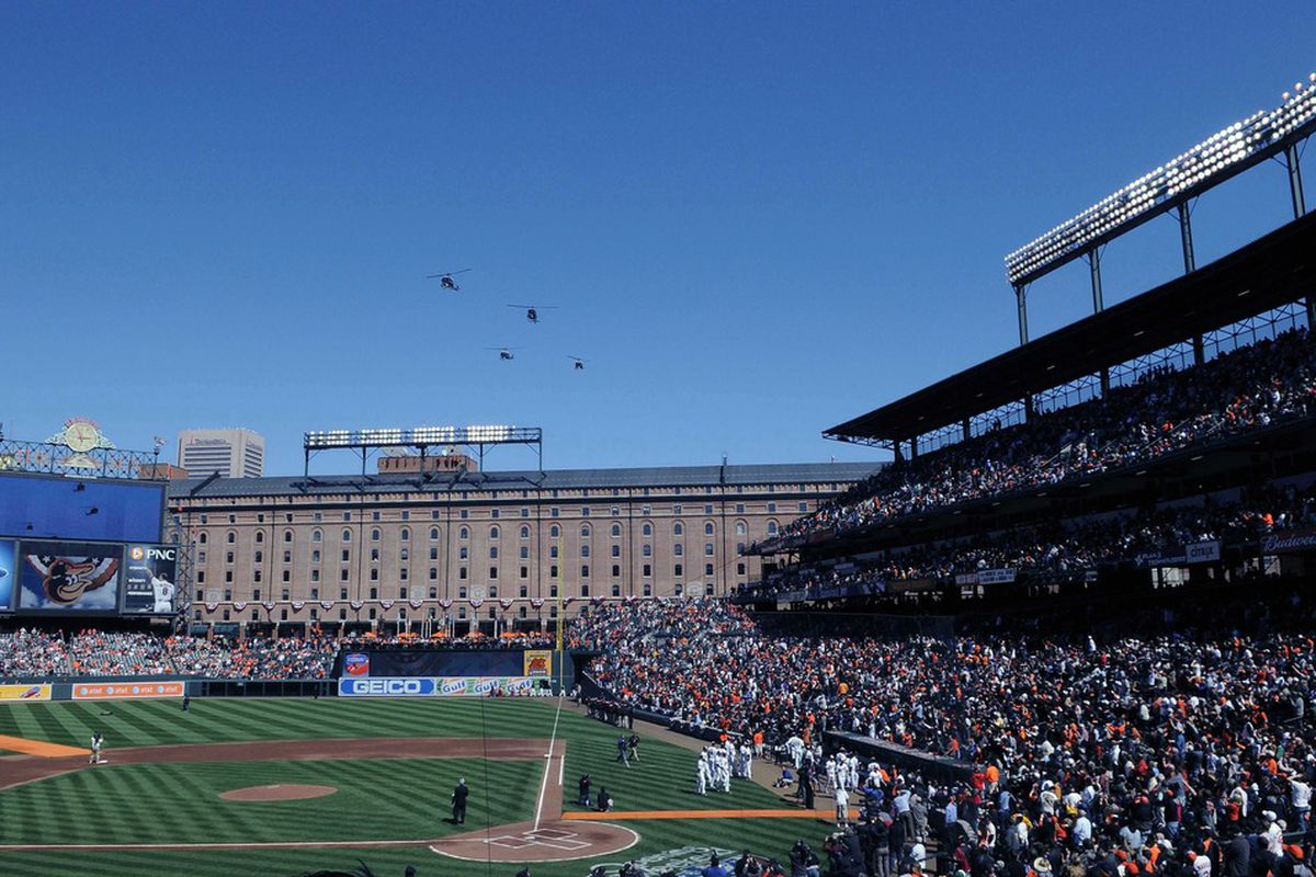 It may be Opening Day, but we have to wait until Friday before we can soak in this view.