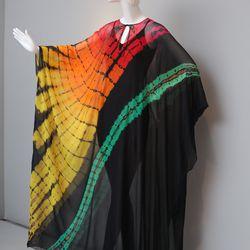 Halston's tie-dye evening dress