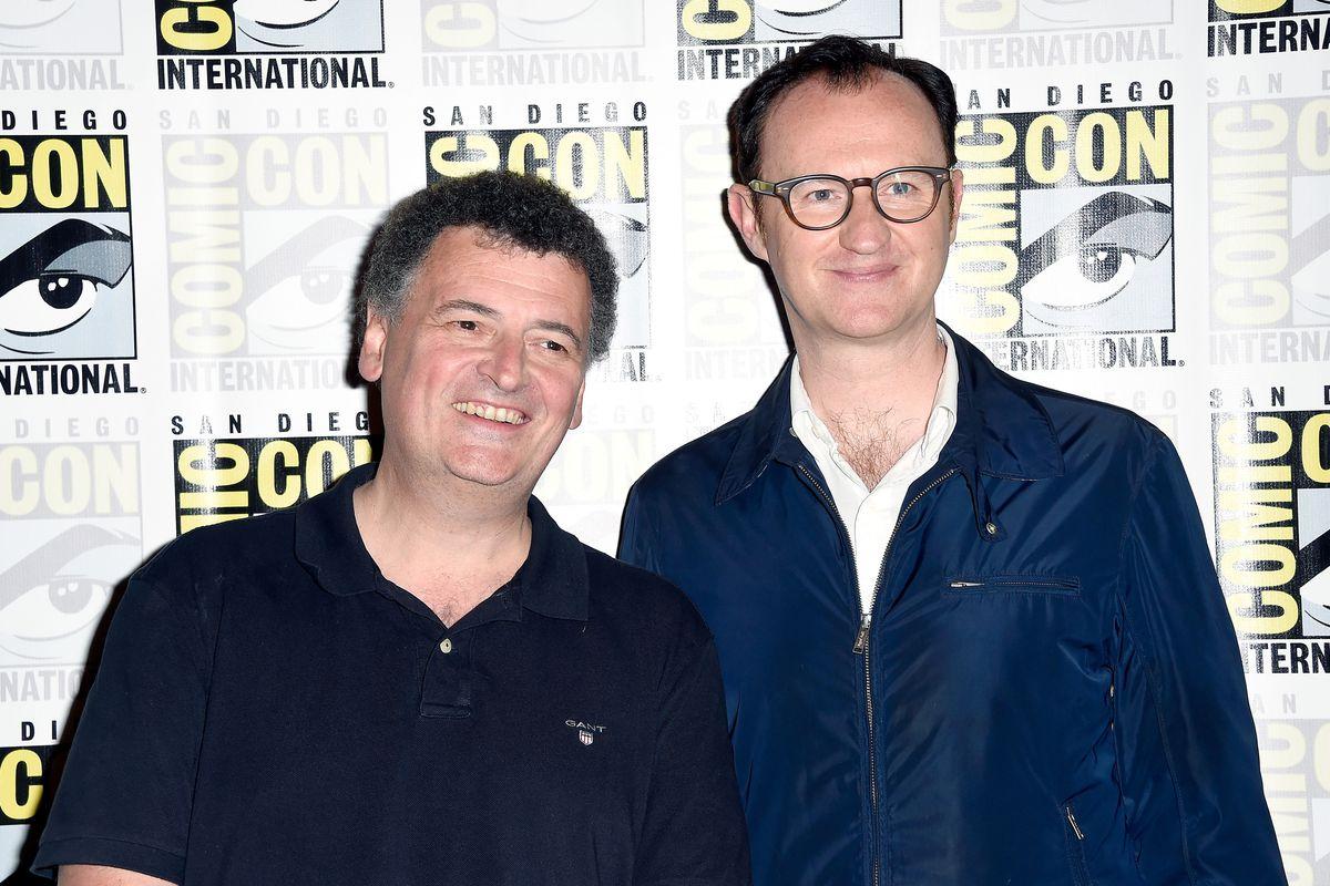Comic-Con International 2016 - 'Sherlock' Press Room - Steven Moffat (left) and Mark Gatiss