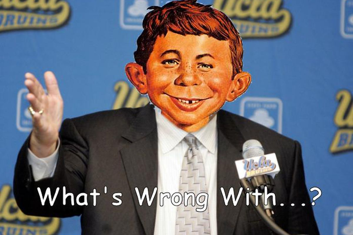 What is wrong with UCLA not going to the Rose Bowl championship game and/or winning national championship in hoops?