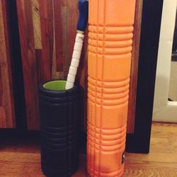"""My pre-workout routine always consists of five to ten minutes of foam rolling. I am slightly obsessed with <a href=""""http://www.tptherapy.com/Shop-Online/SMRT-Core-Products/"""">The Grid</a> by <b>Trigger Point Therapy</b> because it has different densities o"""