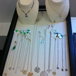 The three silver pendants to the right are where the deals start: 70% off of $350