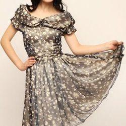 "Blue flower dress from Chouchounette, <a href=""http://www.shoptiques.com/products/blue-flower-dress"">$85</a>."