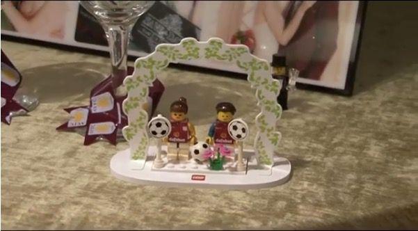 LEGO Villa cake topper