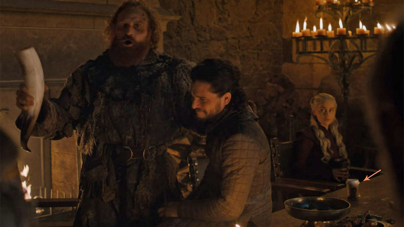 Brilliant Is That A Starbucks Cup In Game Of Thrones The Verge Pabps2019 Chair Design Images Pabps2019Com