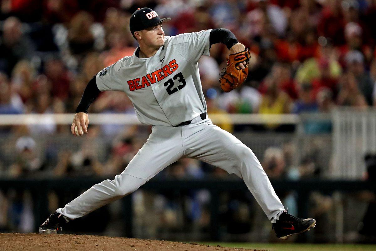 NCAA Baseball: College World Series-Arkansas vs Oregon State