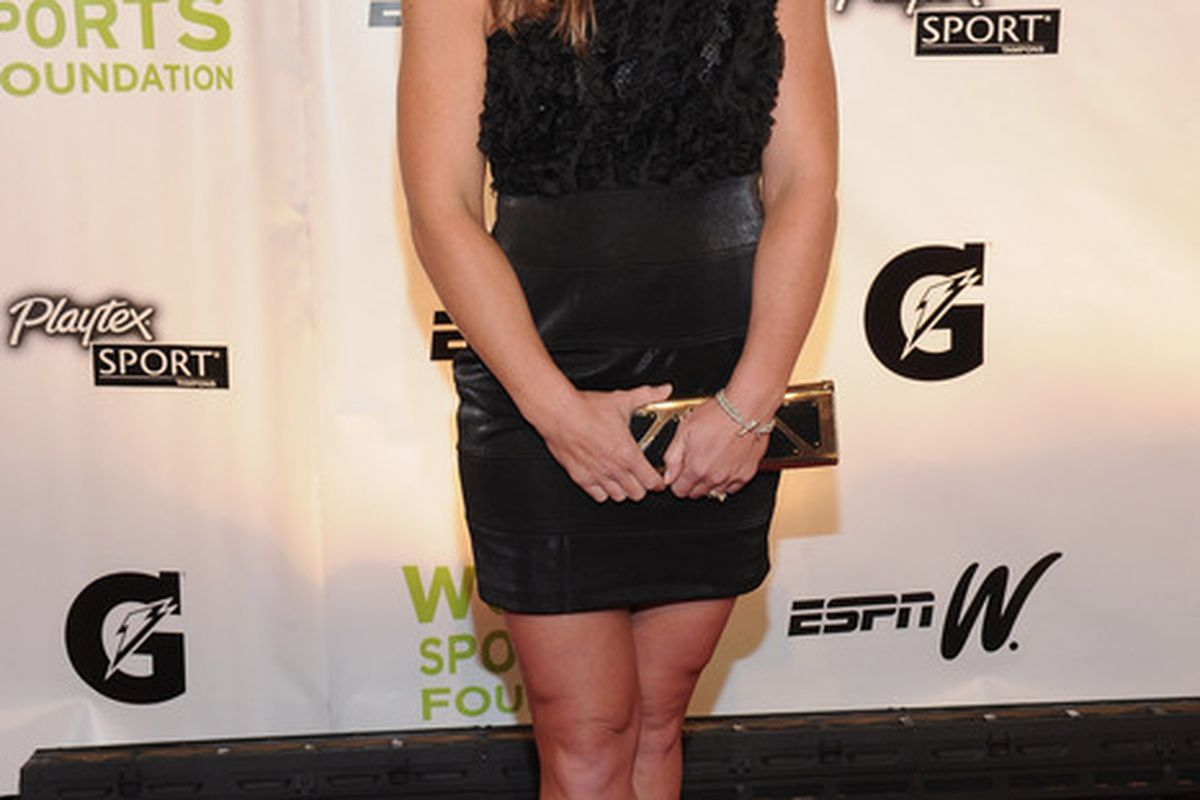 NEW YORK, NY - OCTOBER 19:  Soccer player Christine Rampone attends the 32nd Annual Salute To Women In Sports Gala at Cipriani Wall Street on October 19, 2011 in New York City.  (Photo by Jason Kempin/Getty Images)
