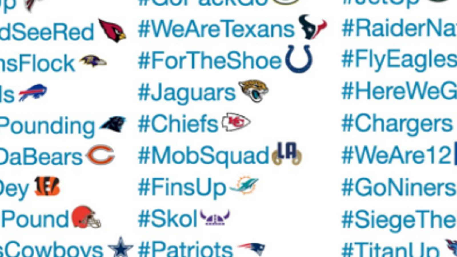 cfbb5cfdca7 Ranking all 32 NFL teams  new Twitter hashtags and emojis - SBNation.com