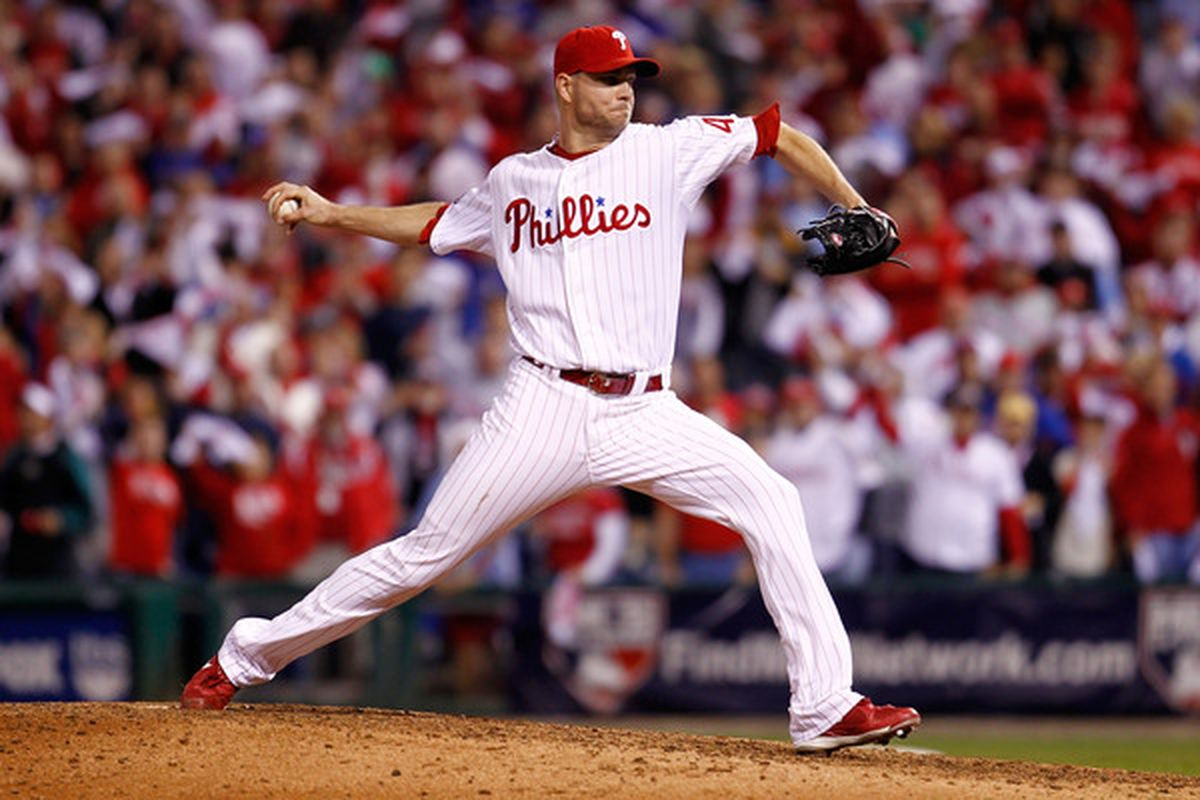 Ryan Madson, soon to be the Phillies' all-time leader in relief appearances.  (Photo by Jeff Zelevansky/Getty Images)