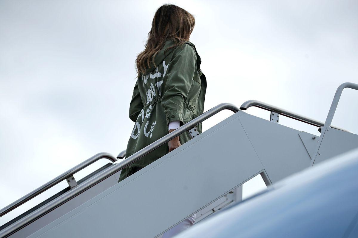 Melania Trump's $39 Zara military jacket.
