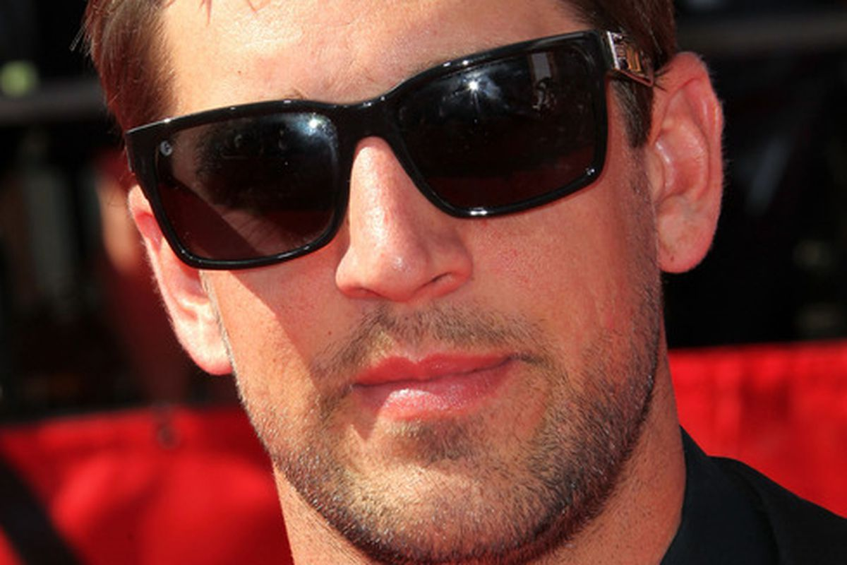 LOS ANGELES, CA - JULY 13:  NFL player Aaron Rodgers arrives at The 2011 ESPY Awards at Nokia Theatre L.A. Live on July 13, 2011 in Los Angeles, California.  (Photo by Frederick M. Brown/Getty Images)