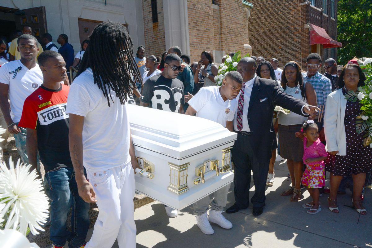 Funeral for Roshad McIntosh, at the Pleasant Grove Baptist Church, 743 S. Sacramento. Saturday, September 6, 2014