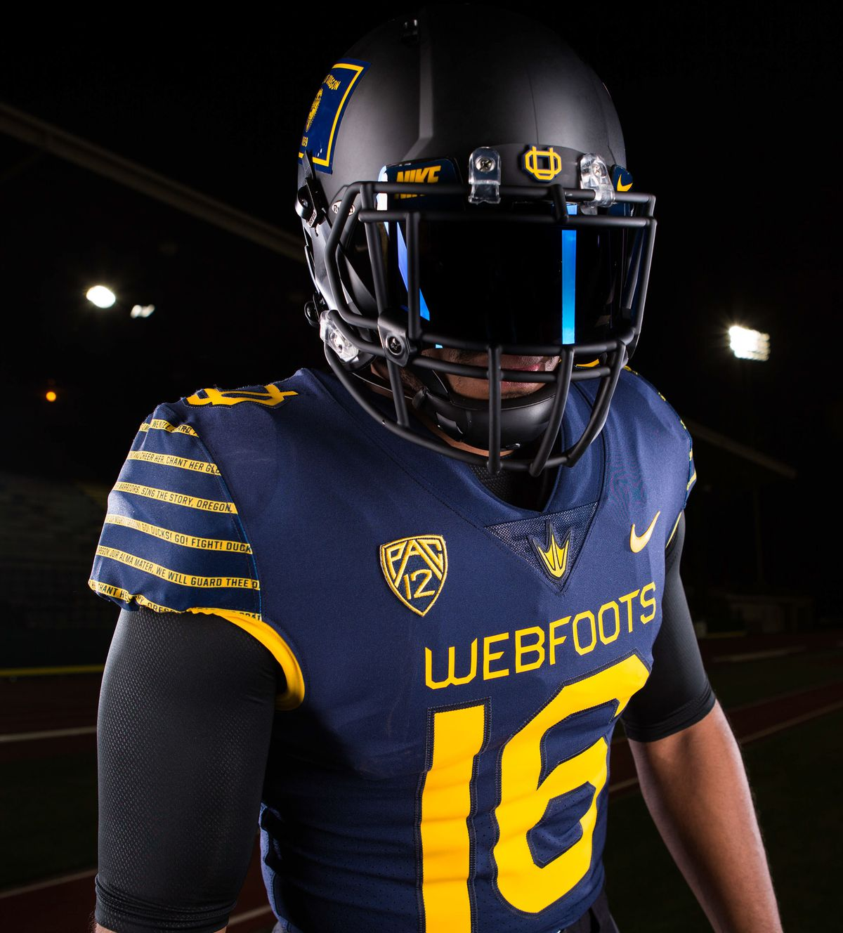 buy online b7b0b 61d13 Why Oregon's wearing blue-and-gold uniforms that say ...